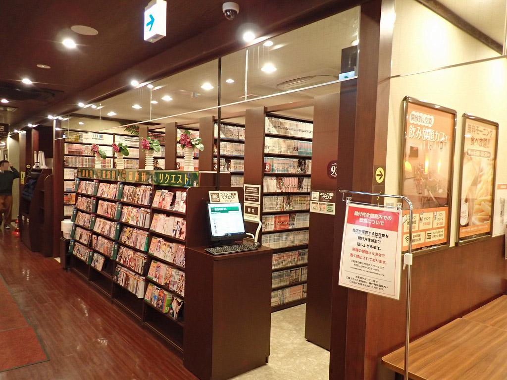 快活CLUB川越クレアモール店の明るい店内の様子
