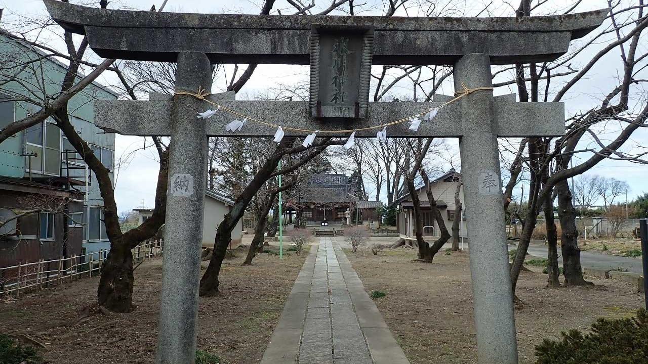 県指定文化財『老袋の弓取式』が行われる氷川神社